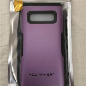 Youmaker Galaxy S10+ Metalic Purple Phone Case